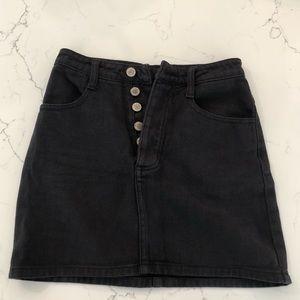 Brandy Melville Black Denim Miniskirt